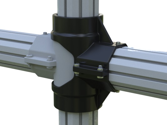 PVC post and Rail Cross Join
