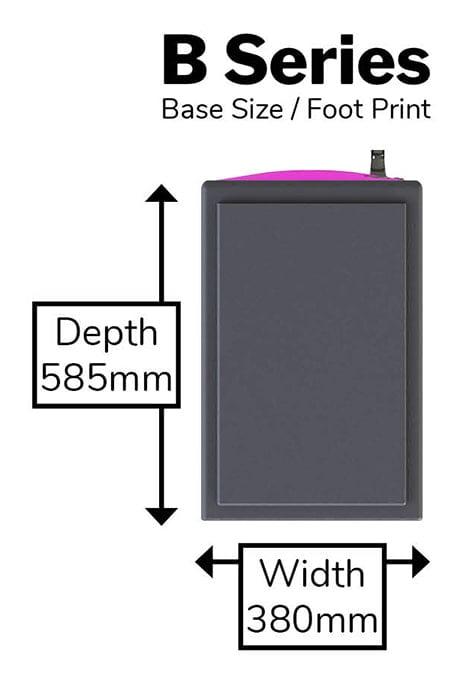 B Series Locker - Foot Print